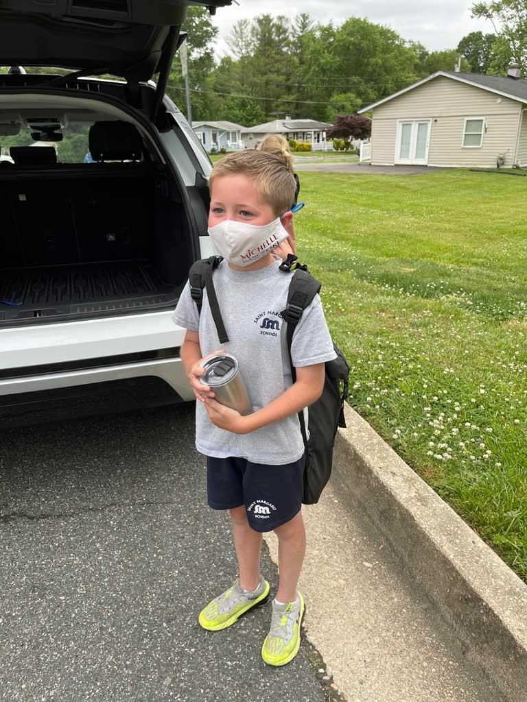 Kids wearing Michelle Karczeski gear